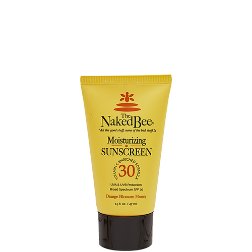 Travel SPF 30 Vitamin C Moisturizing Sunscreen 1.5 oz. - The Naked Bee