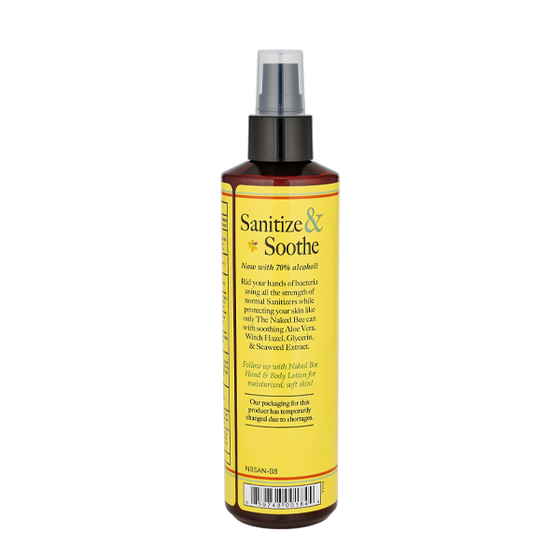 8 oz. Hand Sanitizer in Orange Blossom Honey - The Naked Bee