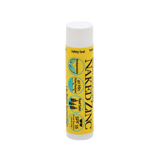 Naked Zinc SPF 15 Reef-Safe Lip Balm - The Naked Bee