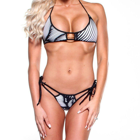 Bitsys Bikinis Bikini Scrunch-Butt-Double-Strap-Catalina-Stripe-Black-Stripe