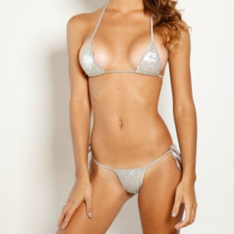 Bitsys Bikinis Bikini Scrunch-Butt-Two-Piece-Hollywood-Platinum-Sequin-Silver-String