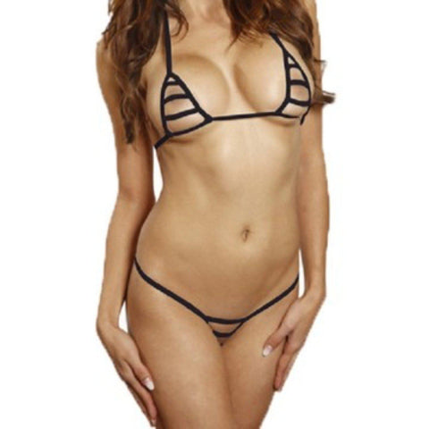 Bitsys Bikinis Bikini Black-String-Only-Extreme-Micro-Bikini-Crotchless-G-String-Exotic-Exposed-See-Through