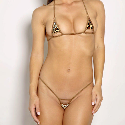 Bitsys Bikinis Bikini Brown-Leopard-Peek-A-Boo-Exposed-Extreme-Micro-Bikini-2Pc-Brown-String-Silver-Rings