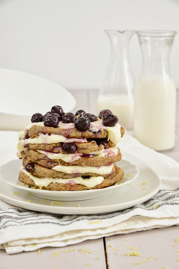Banting Blvd's Blueberry Flapjacks with Lemon Cream Cheese