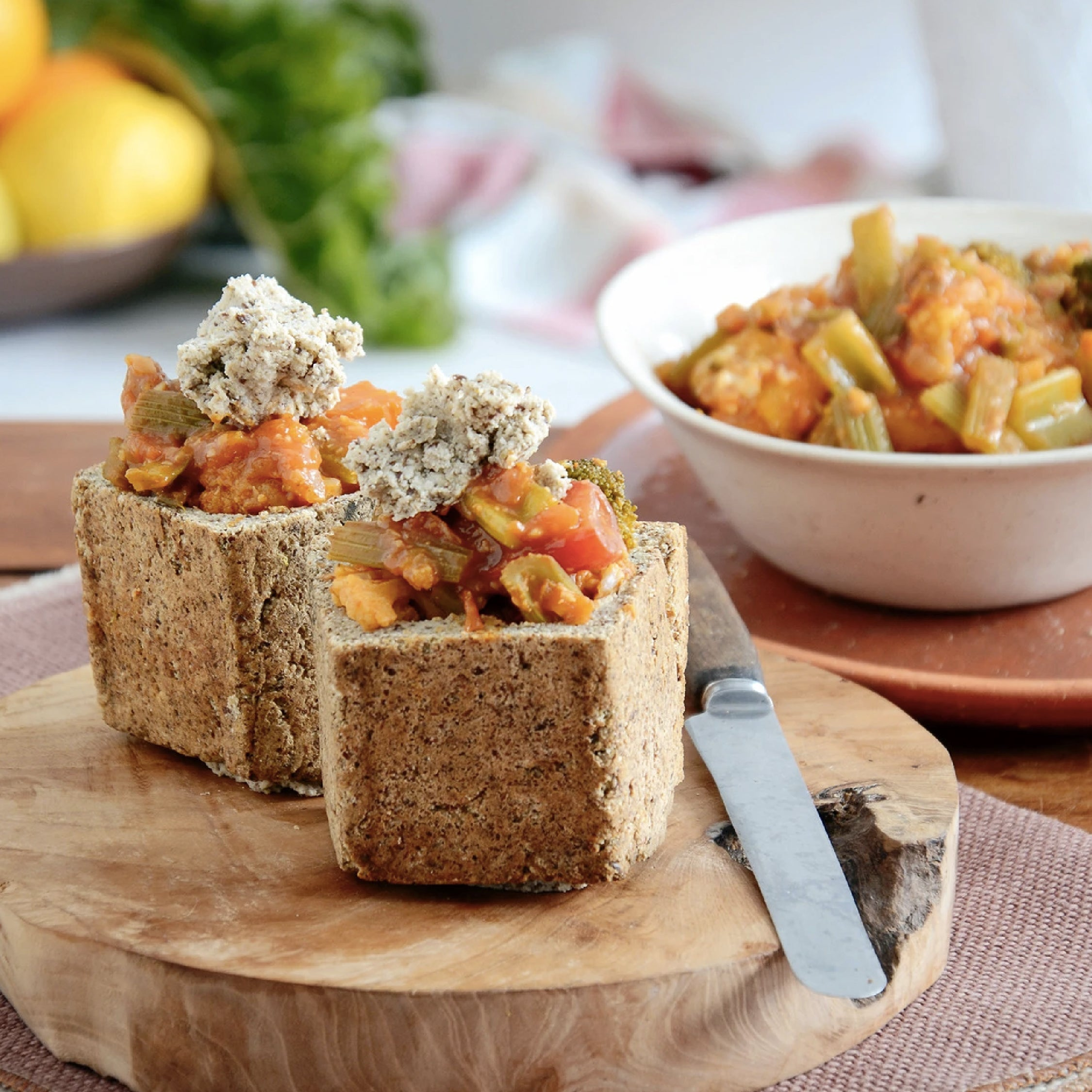 HEBA Bunny Chow with Vegetable Curry