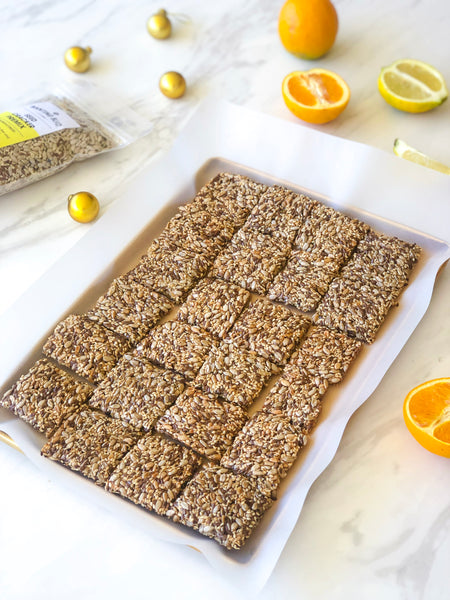 Citrus Seed Crackers: Low Carb and Grain Free!