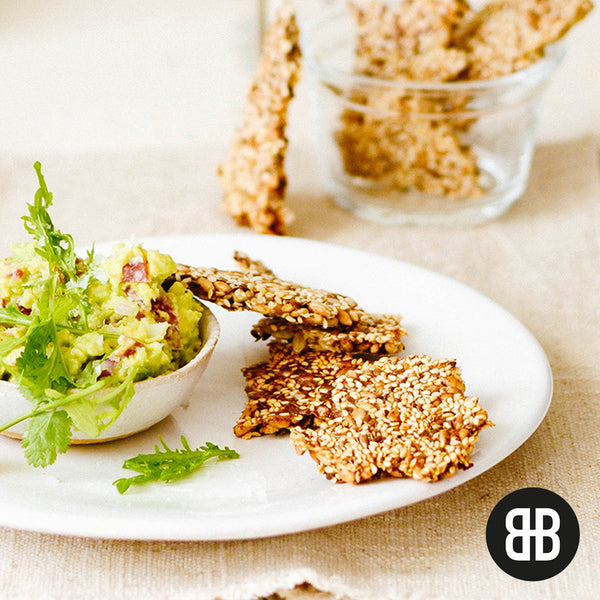 BANTING BLVD Seed Crackers with Guacamole