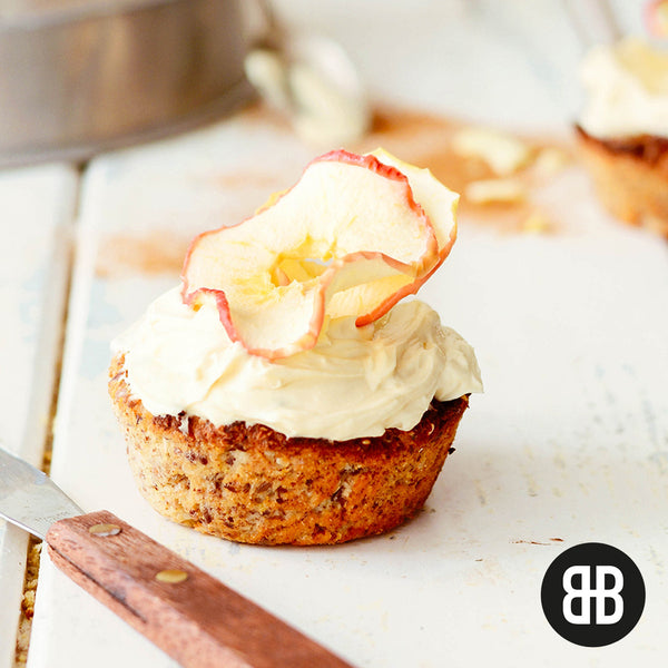 BANTING BLVD Cinnamon Muffins with Chai Cream Cheese Frosting