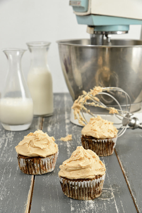 Cappuccino Muffin with Nut Butter Frosting
