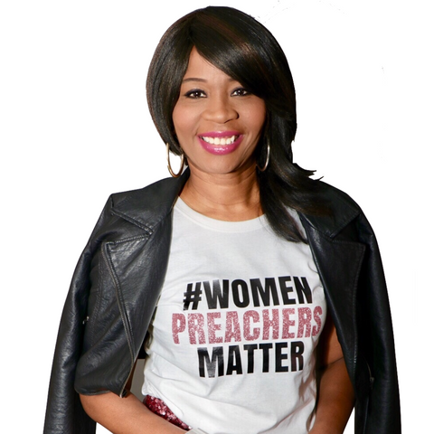 Women Preachers T Shirt (Rose Gold Glitter)