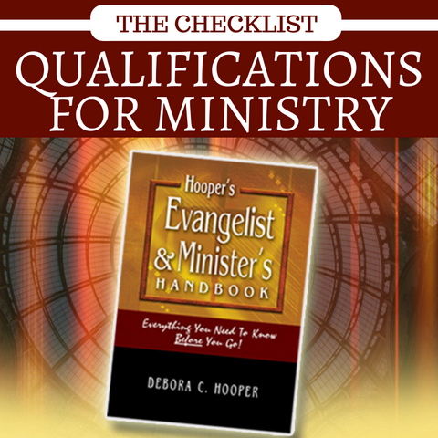 Book - Qualifications For Ministry Checklist