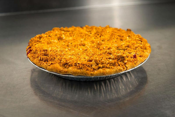 Whole Blackberry Peach Crunch Pie