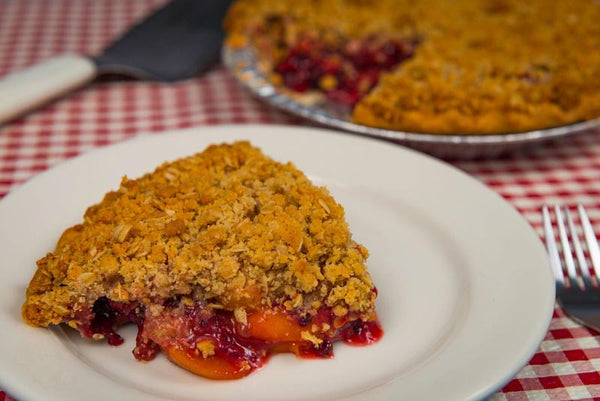 Blackberry Peach Crunch Pie