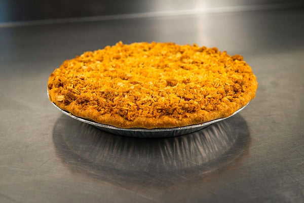 Whole Blueberry Peach Crunch Pie