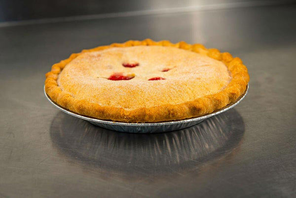 Whole Raspberry Peach Pie