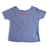 Strong as a Mother Slouchy Tee - Heather Blue