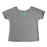 Strong as a Mother Slouchy Scoop Tee - Gray