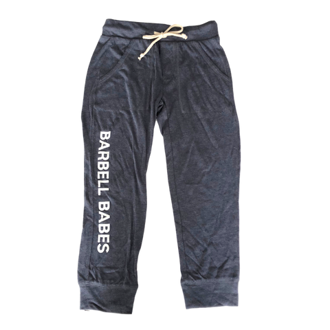 Barbell Babes Cropped Joggers - Navy