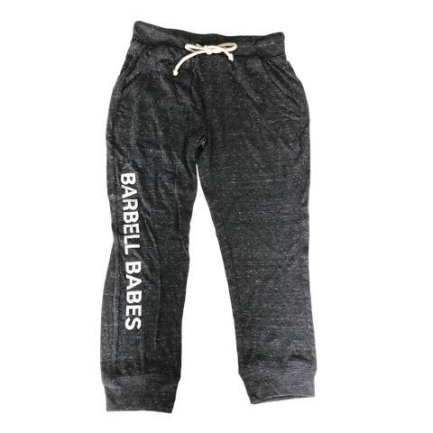 Barbell Babes Cropped Joggers - Black