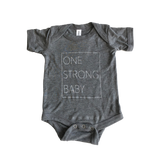 One Strong Baby Onesie - Gray