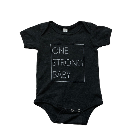 One Strong Baby Onesie - Dark Gray