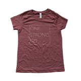 One Strong Kid Tee - Mauve (10-12 M)