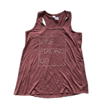 One Strong Kid Flowy Racerback Tank - Mauve