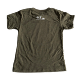 Strong Like My Mom Toddler & Kids Tee - Olive Green (M 10-12)