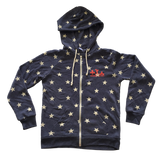 Lift Like a Babe Fleece Zip Hoodie - Stars