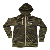 Lift Like a Babe Fleece Zip Hoodie - Camo