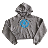 Empower Cropped Fleece Hoodie - Gray