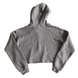 Empower Cropped Fleece Hoodie - Gray (L)