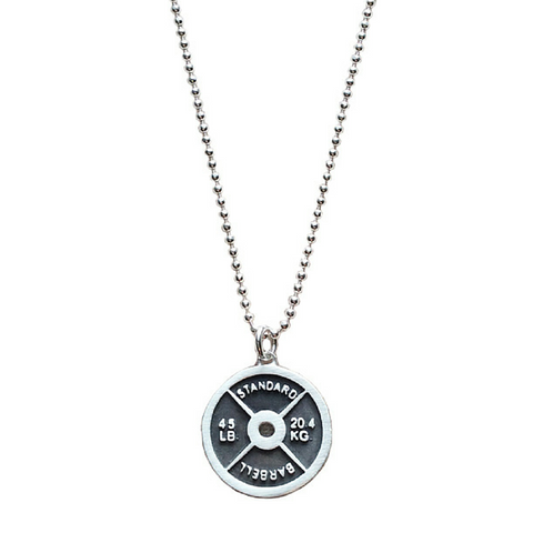 Weight Plate Necklace - Sterling Silver