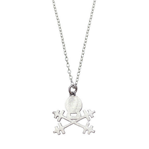 Kettlebell Skull Necklace - Sterling Silver