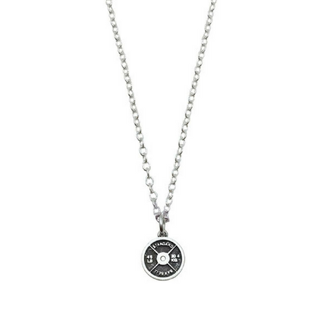 Mini Weight Plate Sterling Silver Necklace