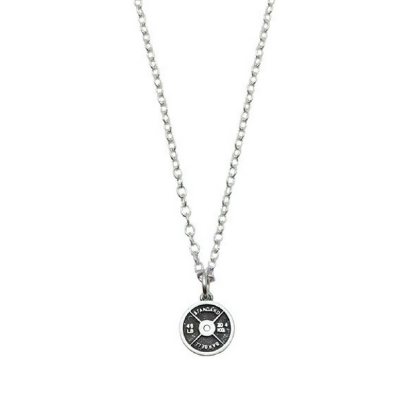 Weight Plate Necklace Mini - Sterling Silver