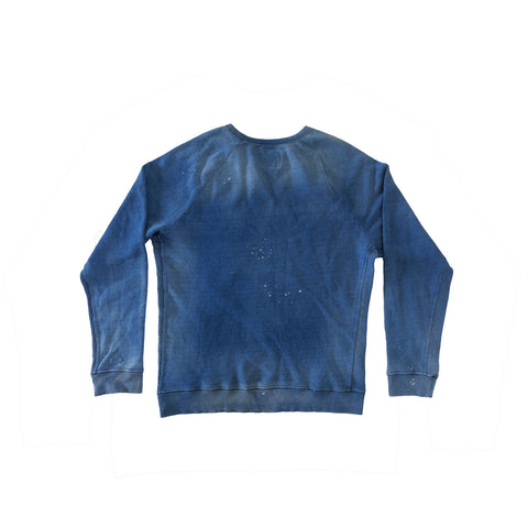 LOS ANGELES PUFF PRINT MEN'S INDIGO SWEATSHIRT | Instantly Available