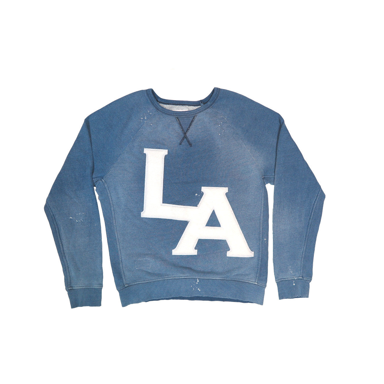 MEN'S LA EMBROIDERED PATCH  VINTAGE INDIGO SWEATSHIRT | Instantly Available