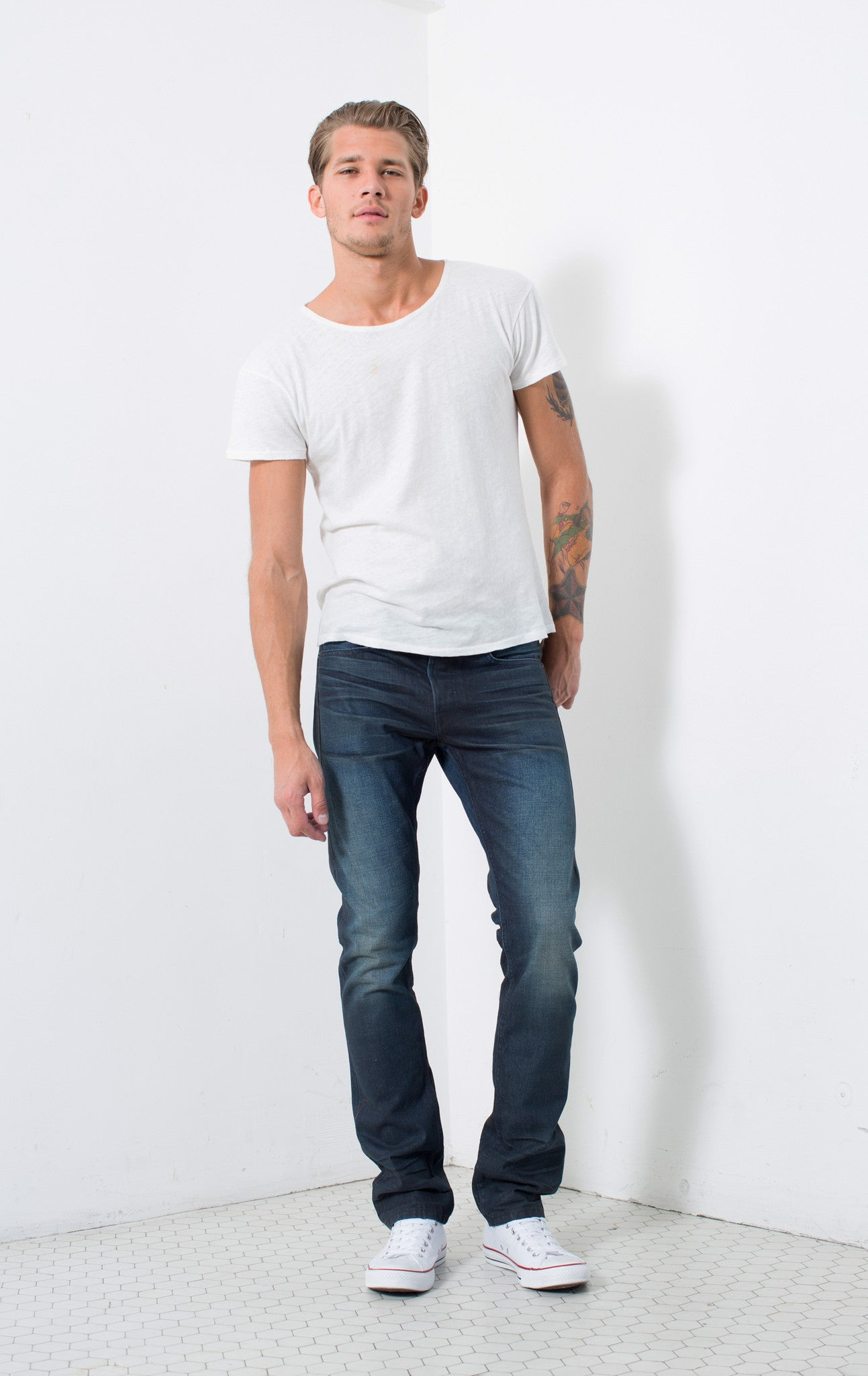 SLIM SELVAGE FIT in JUDE | MADE TO ORDER