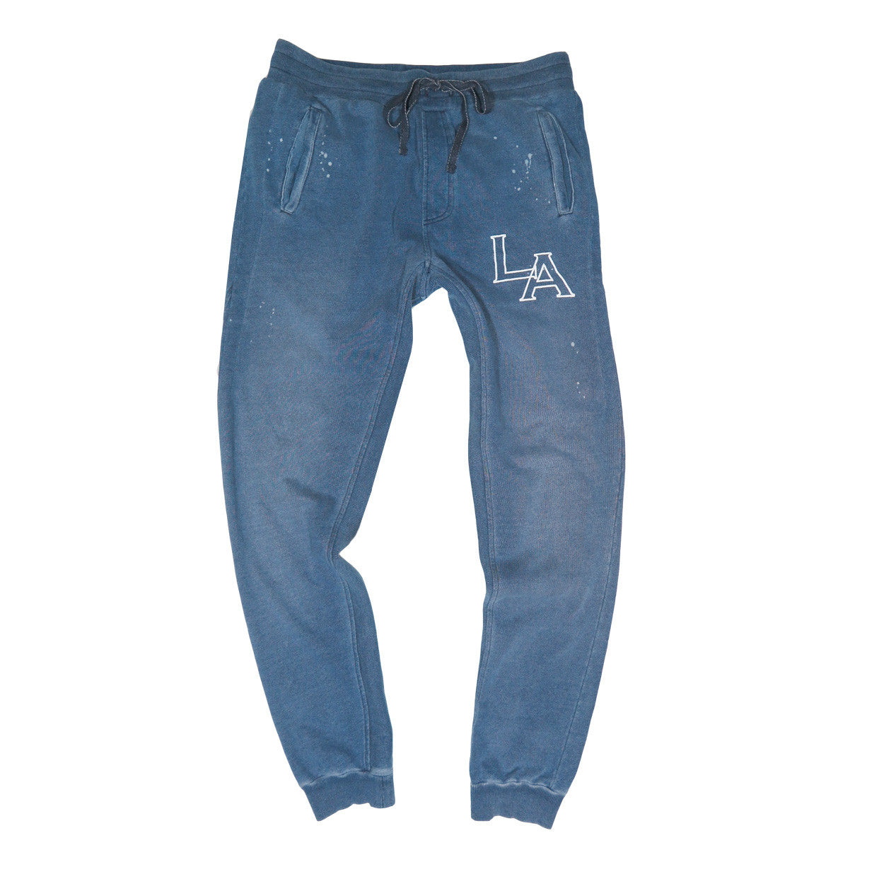 MEN'S LA PRINTED INDIGO JOGGER | Instantly Available