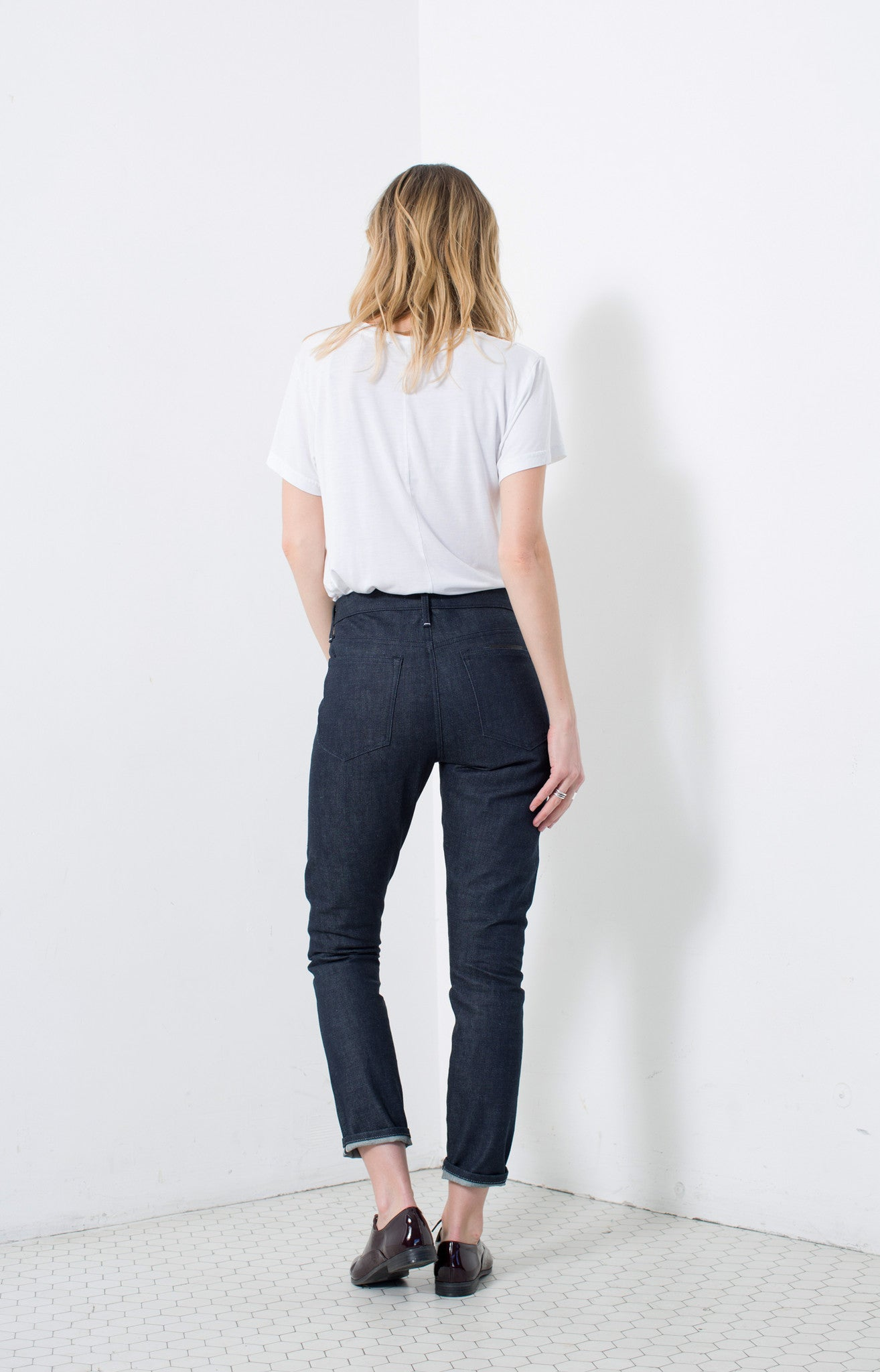 HIGH RISE SLIM in RAW | MADE TO ORDER