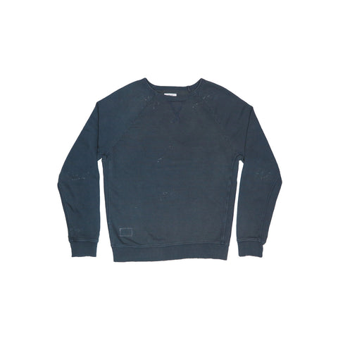 WASHED BLACK MEN'S INDIGO SWEATSHIRT | Instantly Available