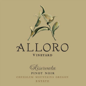 Alloro Vineyard Riservata Pinot Noir Chehalem Mountains Oregon, 2011, 750