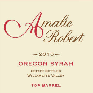 Amalie Robert Estate Top Barrel Syrah Willamette Valley Oregon, 2010, 750