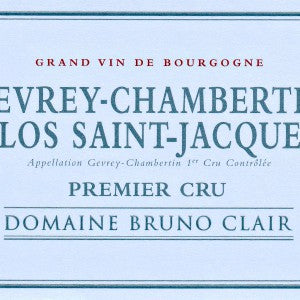 Bruno Clair Premier Cru Clos St. Jacques Burgundy France, 2015, 750