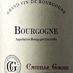 Camille Giroud Bourgogne Rouge Burgundy France, 2015, 750