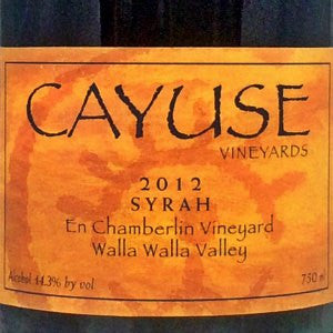 Cayuse Syrah En Chamberlin Vineyard, Walla Walla Washington, 2012, 750