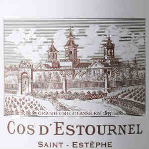 Chateau Cos d'Estournel Saint-Estephe France, 2004, 750