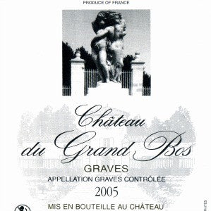 Chateau du Grand Bos Graves France, 2005, 750