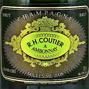 R.H. Coutier Millesime Brut Champagne, 2008, 750
